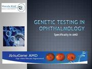 Genetic testing in ophthalmology
