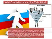 What Companies Look out for While Hiring