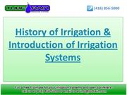 History of Irrigation & Introduction of Irrigation Systems