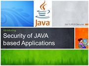 Security of JAVA  based Applications