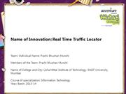 Real Time Traffic Locator
