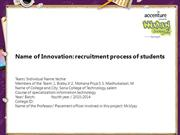 recruitment process of students