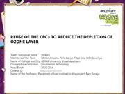 REUSE OF THE CFC's TO REDUCE THE DEPLETION OF OZONE LAYER