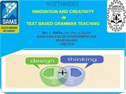 INNOVATION AND CREATIVITY IN TEXT BASED GRAMMAR TEACHING