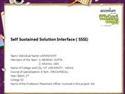 Self Sustained Solution Interface ( SSSI)