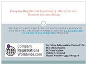 Company Registration Luxembourg - Start your own Business