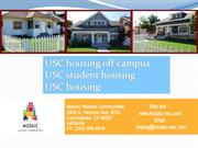 Searching for a good USC housing off campus? Here are a few tips.