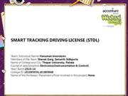 SMART TRACKING DRIVING LICENSE (STDL)