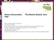 The Electric Road &  Foot Path