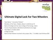 Ultimate Digital Lock For Two Wheelers