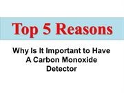 Why Is It Important to have a carbon monoxide detector