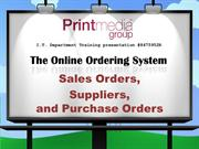 Sales orders Suppliers Purchase Orders