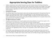 Appropriate Serving Sizes for Toddlers