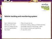 Vehicle tracking and monitoring system