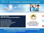 Indoor Air Quality Testing & Remediation Barrie, Toronto, Ontario