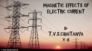 MAGNETIC EFFECTS OF ELECTRIC CURRENT for 10th Class
