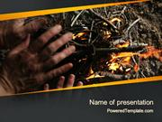 Bonfire Warmth PowerPoint Template by PoweredTemplate.com