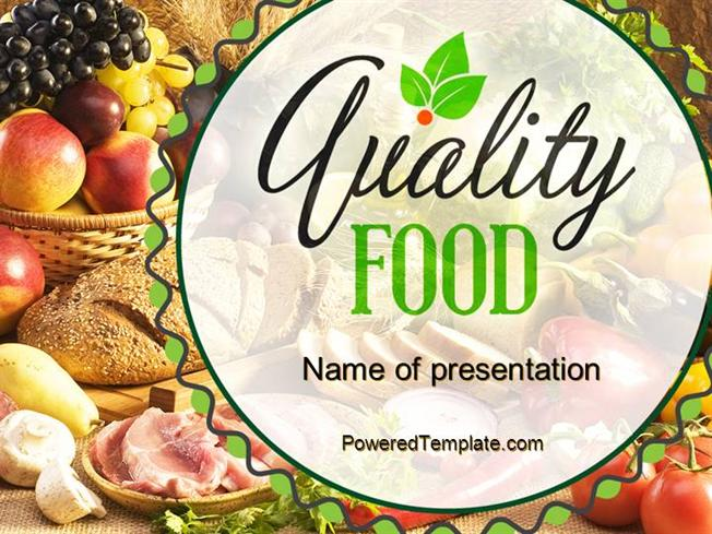 Quality Food Powerpoint Template By PoweredtemplateCom Authorstream