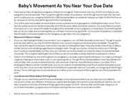 Baby's Movement As You Near Your Due Date