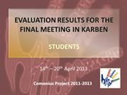SS_EVALUATION RESULTS FOR THE FINAL MEETING IN KARBEN