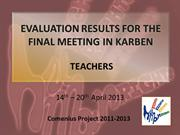 TT_EVALUATION RESULTS FOR THE FINAL MEETING IN KARBEN(1)
