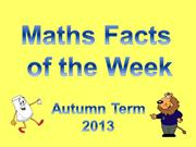 Maths Fact of the week_autumn 2013