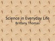 science in every day life