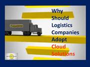Why Should  Logistics Companies Adopt Cloud Solutions