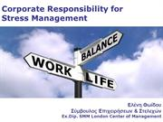 Corporate Responsibility for Stress Management