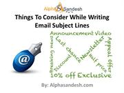 Things To Consider While Writing Email Subject Lines