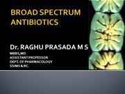 BROAD SPECTRUM ANTIBIOTICS