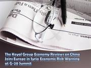 China Joins Europe in Syria Economic Risk Warning