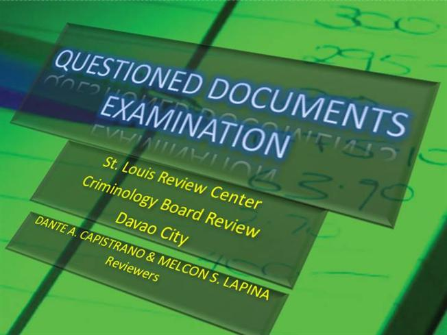 QUESTIONED DOCUMENT EXAMINATION PDF DOWNLOAD