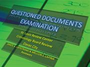 QUESTIONED DOCUMENTS EXAMINATION discussions.1
