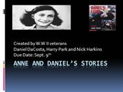 Anne and Daniel's stories