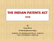 PATENT ACT 1971 by SROTA DAWN