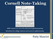 Cornell Notes Pueblo High School