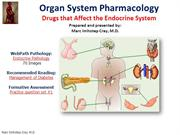 Drugs that Affect the Endrocrine System-IN Organ System Pharmacology