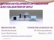 HPLC method development,optimizationand validation