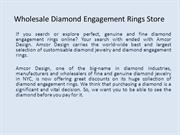 Wholesale Diamond Engagement Rings Store