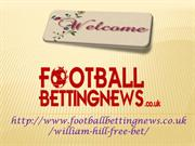 William Hill Free Bets Online