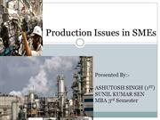 PRODUCTION ISSUES IN SME
