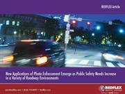 New Applications of Photo Enforcement Emerge