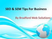 SEO & SEM Tips For Business