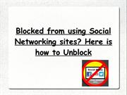 Blocked from using Social Networking sites