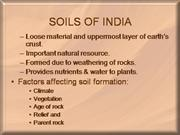 SOILS OF INDIA