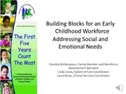 Building Blocks for an Early Childhood Workforce