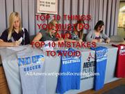 Top 10 Things You Must Do and Top 10 Mistakes To Avoid 9-11-13