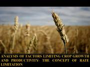 Crop Yield Physiology under limited enviorment