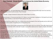 Paul Chehade - Simple Solutions to Improve the United States Economy.